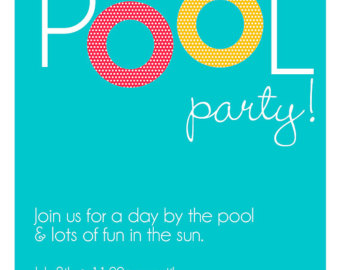 340x270 Pool Party Invitations Clipart