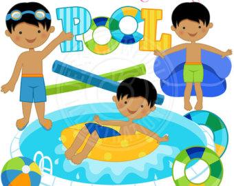 340x270 Pool Party Clip Art Etsy