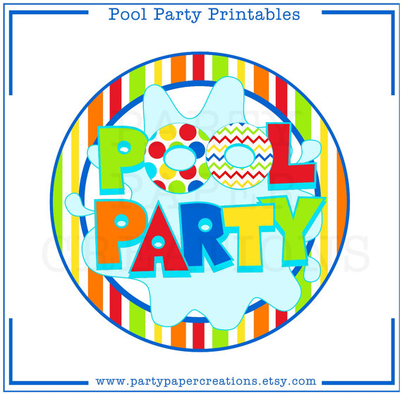 570x558 Adult Pool Party Clipart 2