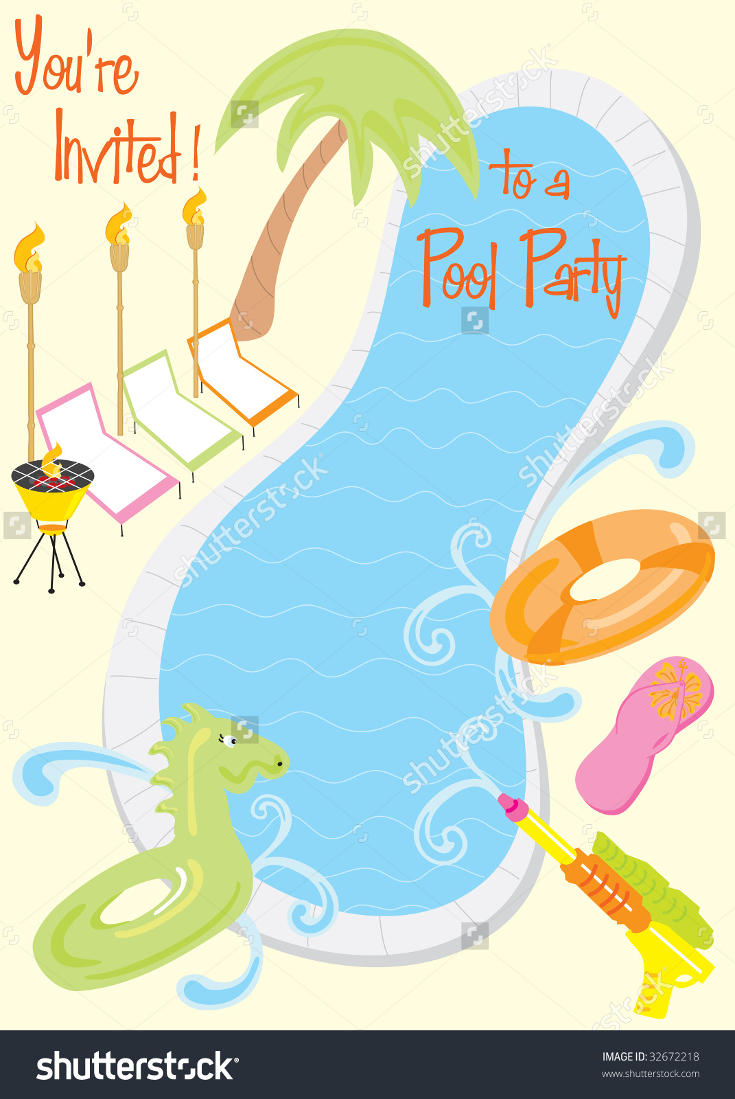 Pool Party Clipart Images | Free download best Pool Party Clipart ...