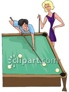225x300 Man And A Woman Playing Pool
