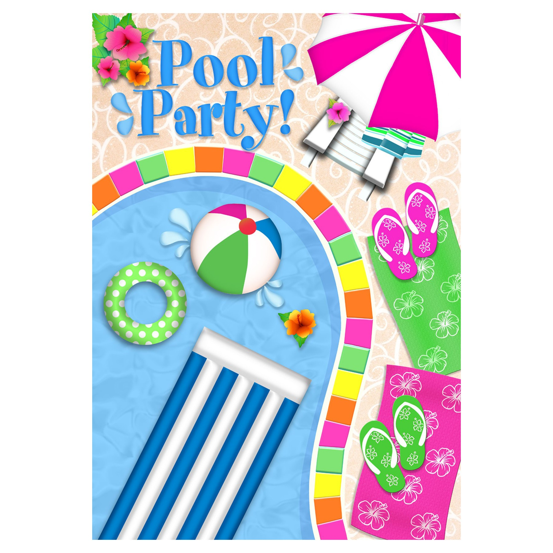 1800x1800 Pool Party Graphics Clipart