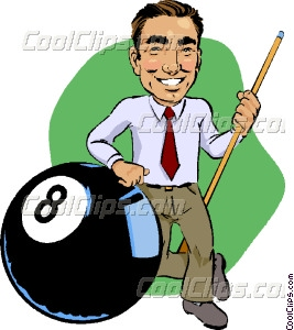 267x300 Pool Player With Eight Ball Vector Clip Art
