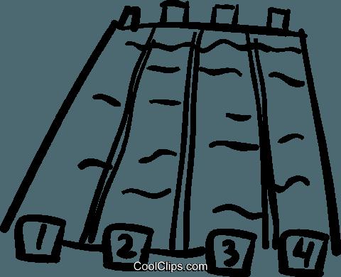 480x390 Swimming Pool Royalty Free Vector Clip Art Illustration Vc037026