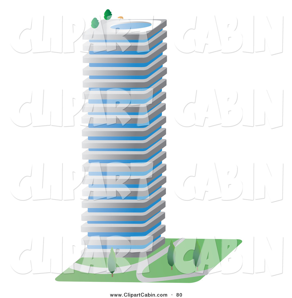 1024x1044 Vector Cliprt Of Tall Gray Commercial City Building
