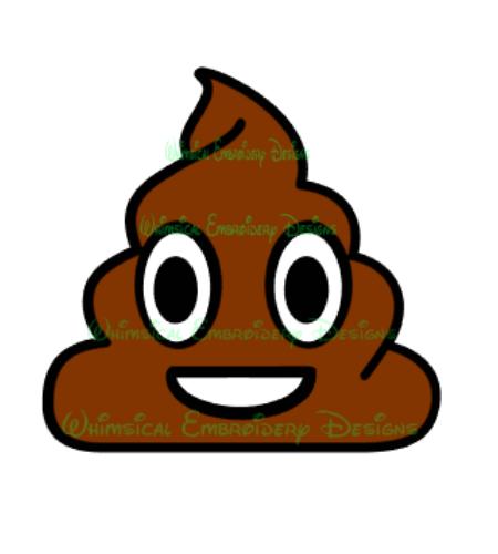 450x500 Cut Designs Poop Emoji Cut Design