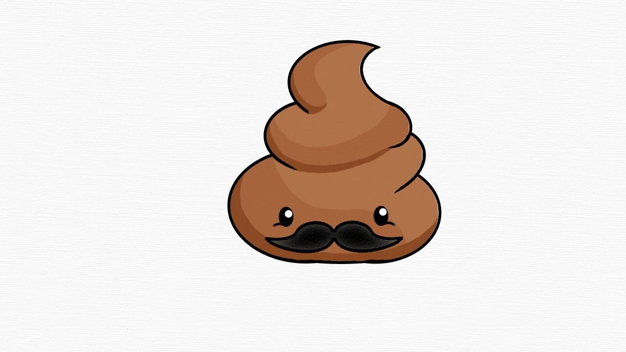 1280x720 How To Draw Papa Poop Emoji (Step By Step Easy)