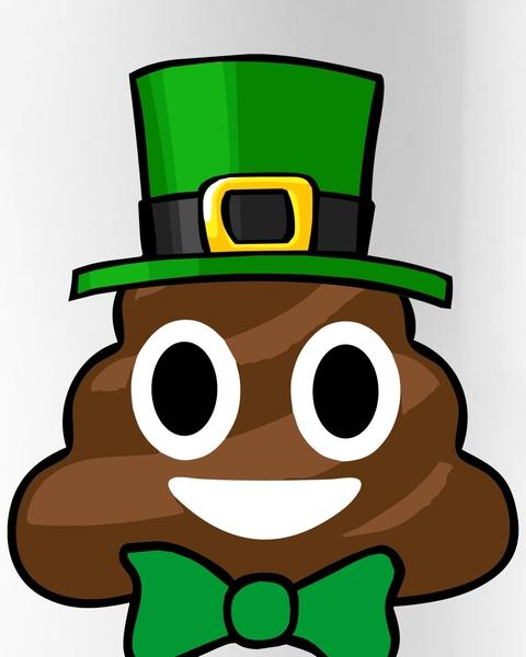 480x600 Leprechaun Poop Emoji Smiley Funny St. Patrick's Day Coffee Mug