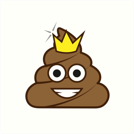550x550 Poop Emoji Crown Art Prints By Jvshop Redbubble