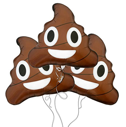 494x500 Poop Emoji Mylar Balloon 3pk Party Explosions Httpwww.amazon