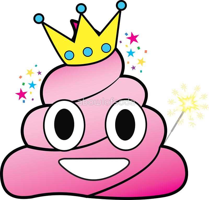 800x764 Princess Poop Emoji Stickers By Abowlofsoda Redbubble