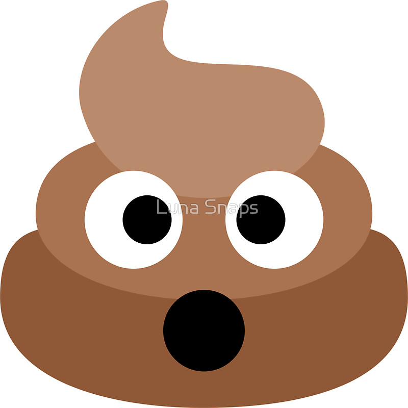 800x800 Shocked Poop Emoji Stickers By Luna Snaps Redbubble
