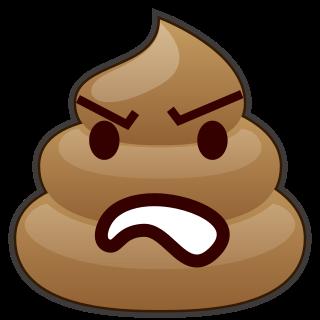 320x320 Angry(Poop) Emojidex