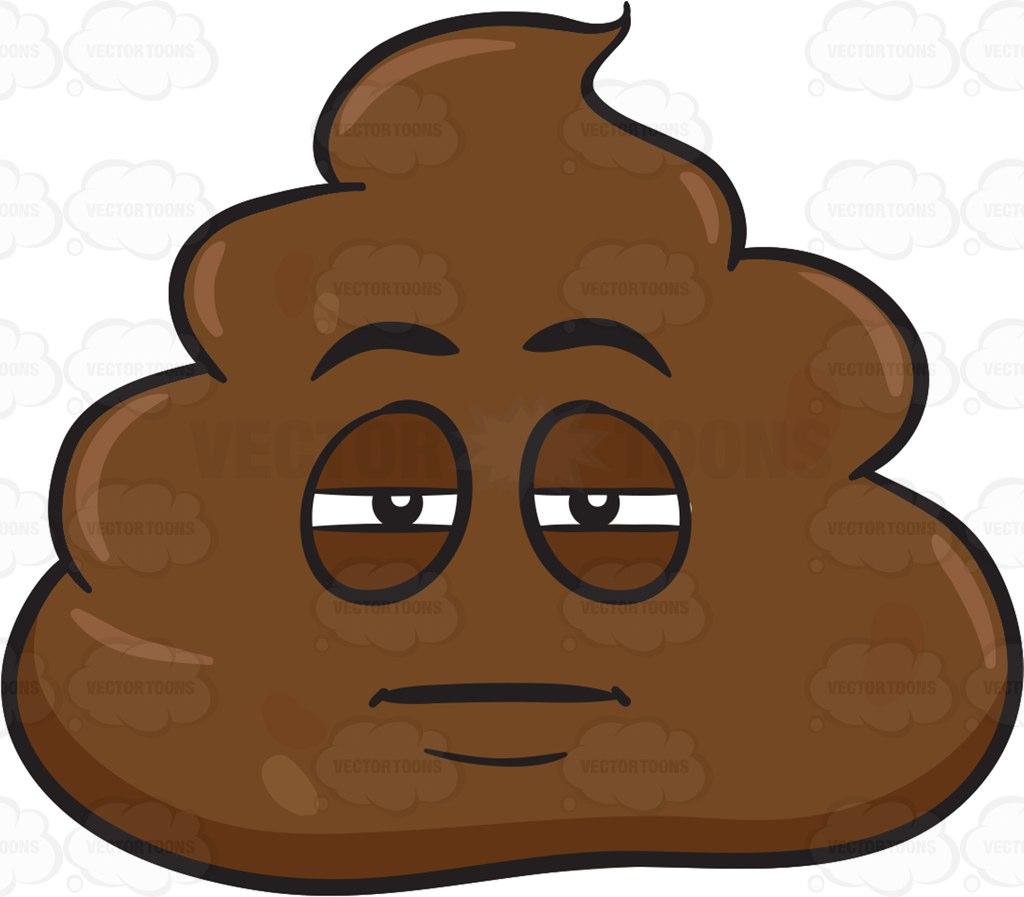 1024x897 A Sleepy Pile Of Poo Cartoon Clipart