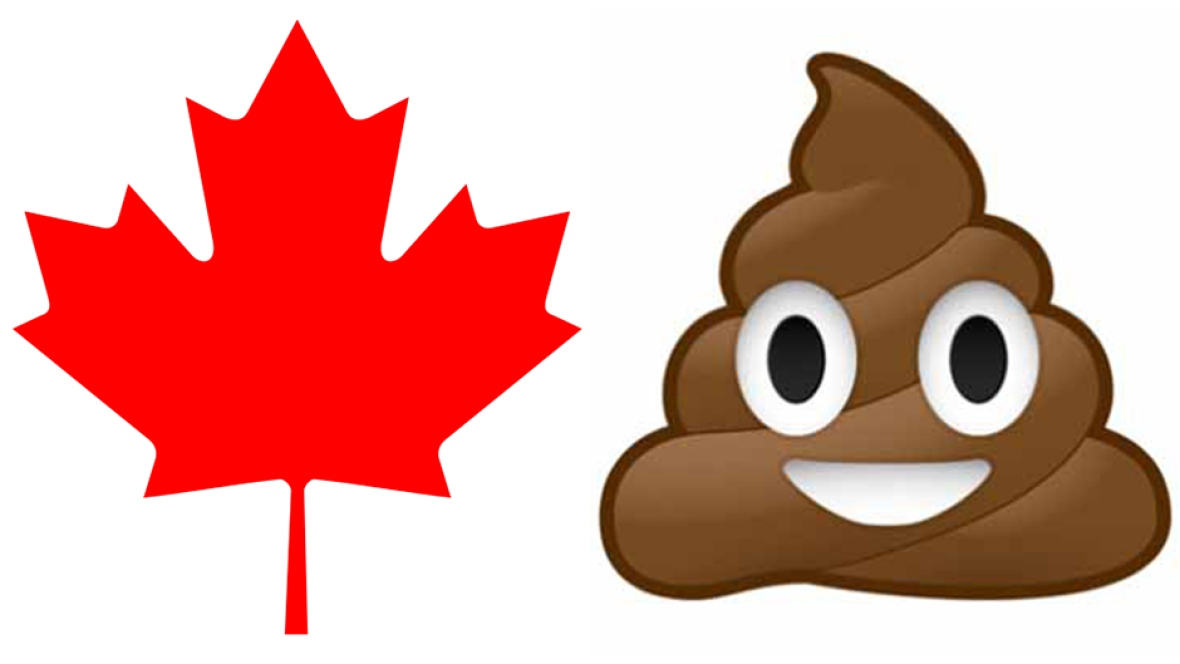 1180x664 Canadians Top The World In Smiling Poop Emoji Use, Report Finds
