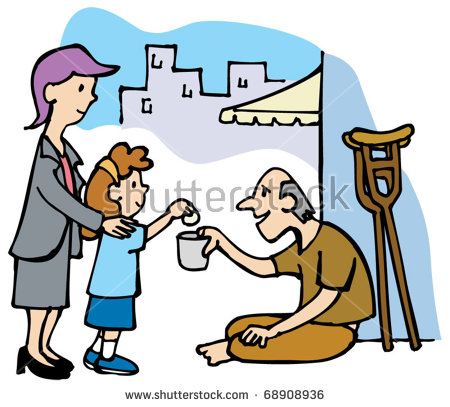 450x407 Giving Money To Homeless Clipart