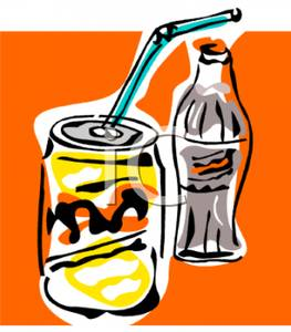 263x300 Art Image A Bottle Of Soda And A Can Of Soda With A Straw