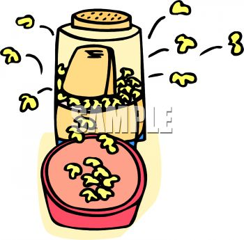 350x345 Picture Of An Air Popper Popping Popcorn In A Vector Clip Art