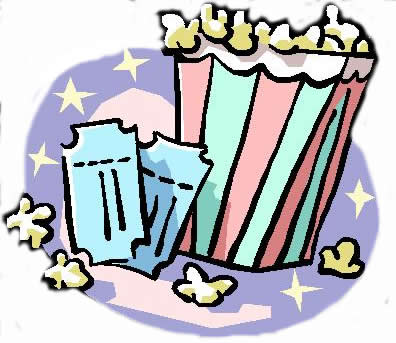 396x343 Clipart Of Movie Popcorn