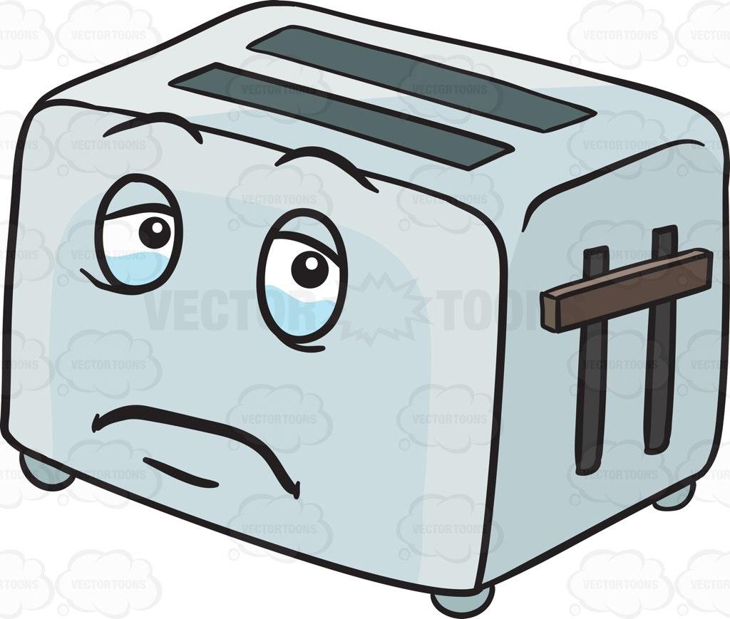 1024x869 Sad Pop Up Toaster Looming With Tears Emoji Cartoon Clipart