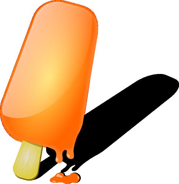 582x597 Orange Popsicle Clip Art