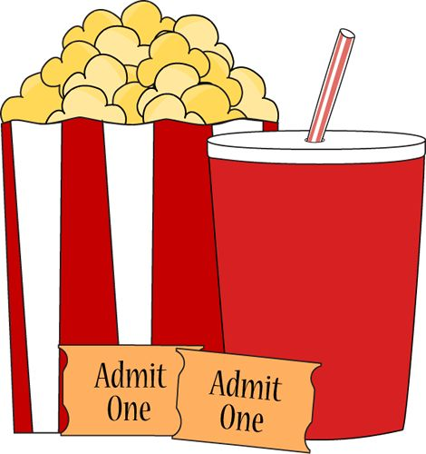 Popcorn And Movie Clipart