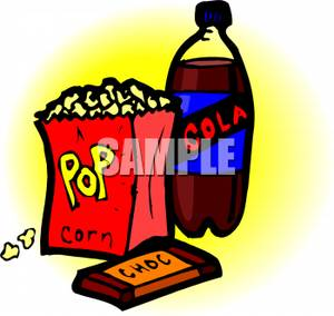 300x284 Picture A Bag Of Popcorn And A Bottle Of Soda