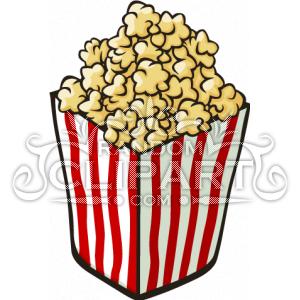 300x300 Cartoon Popcorn Clipart