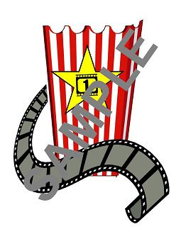 255x330 Popcorn Box Clipart