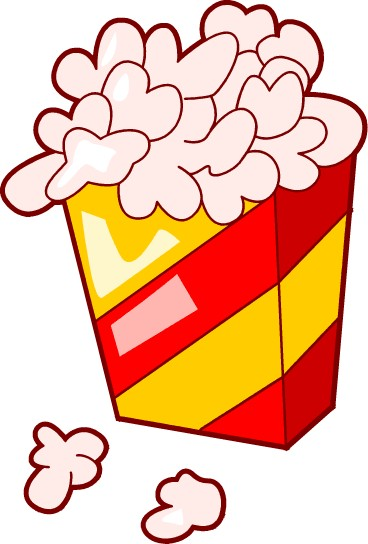 368x544 Popcorn Clip Art Black And White Free Clipart Images