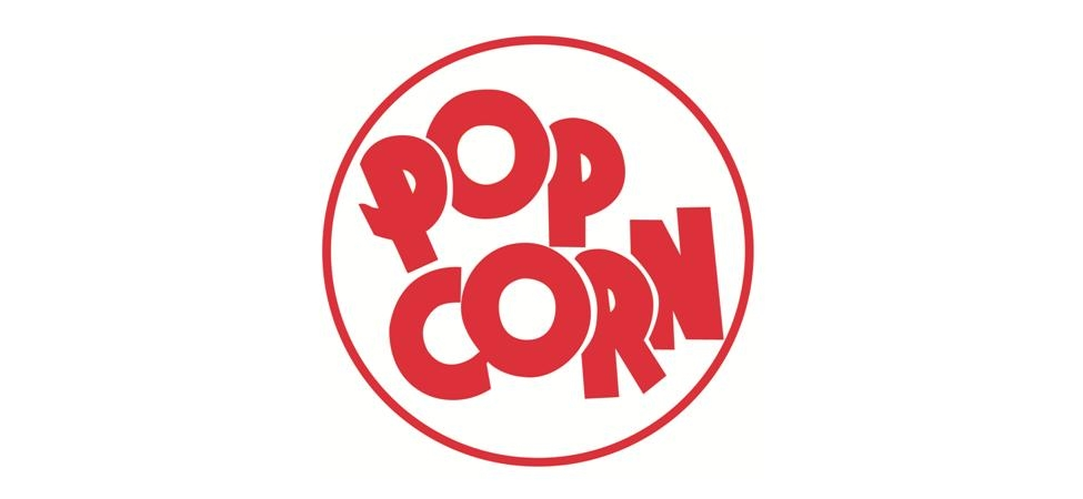 975x450 Popcorn Clipart Logo