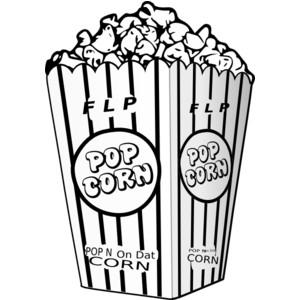 300x300 Popcorn Clipart Vintage