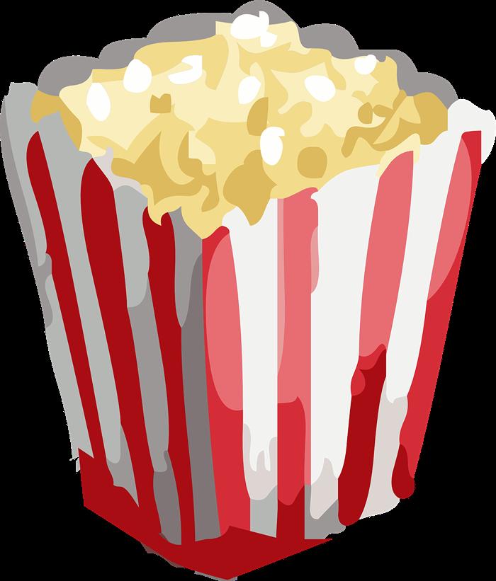 700x821 Popcorn Free To Use Clip Art