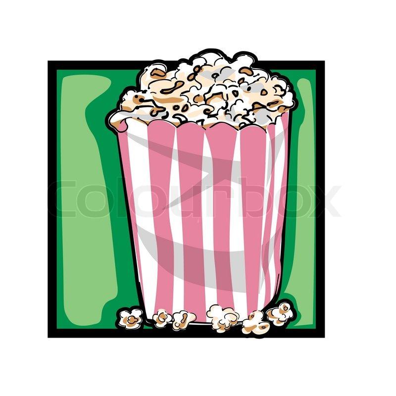 800x800 Classic Clip Art Graphic Icon With Popcorn Stock Vector Colourbox