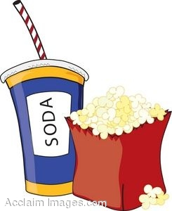 245x300 Clip Art Of A Bag Of Popcorn And A Soda