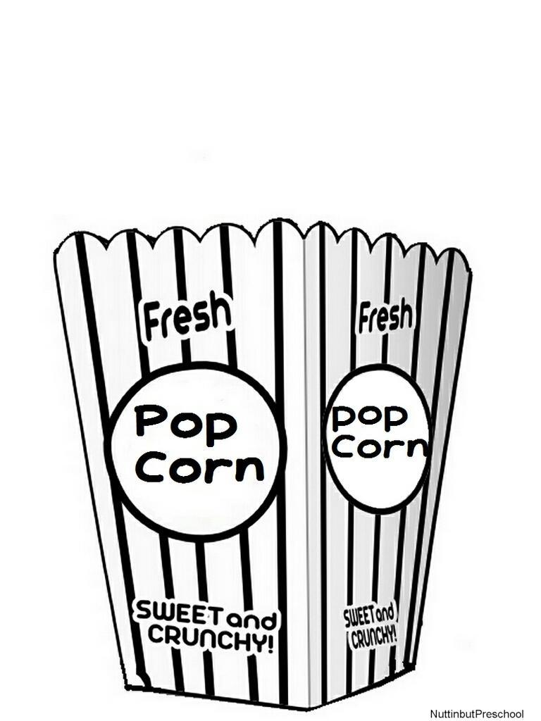 768x1024 Empty Popcorn Bag Clipart