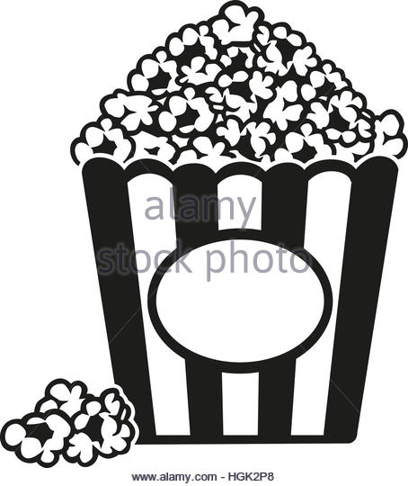 454x540 Silhouette Box Pop Corn Icon Stock Photos Amp Silhouette Box Pop