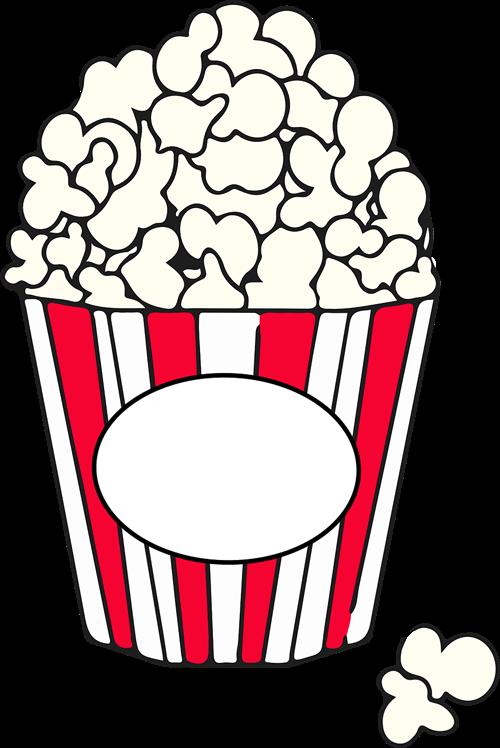 500x748 Clipart Popcorn