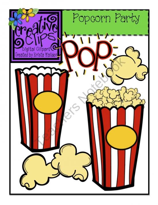 Popcorn Bowl Clipart