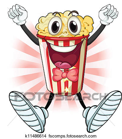 414x470 Clipart Of Popcorn Vector Seamless Pattern K9508795