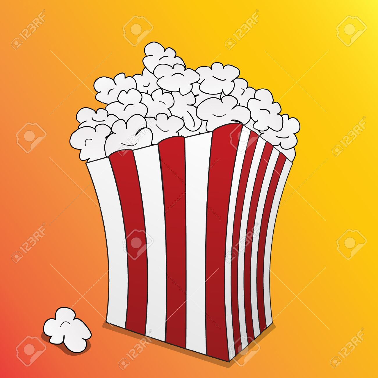 1300x1300 Popcorn Clipart Cartoon