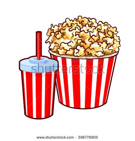 450x470 Popcorn Clipart Soda Cup