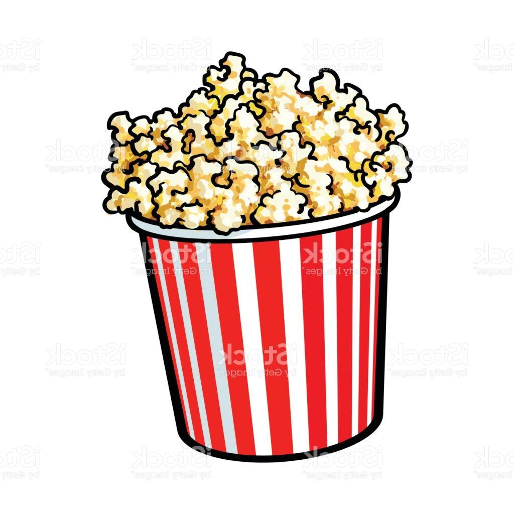 1024x1024 Top 10 Cinema Popcorn In Big Red And White Striped Bucket Vector