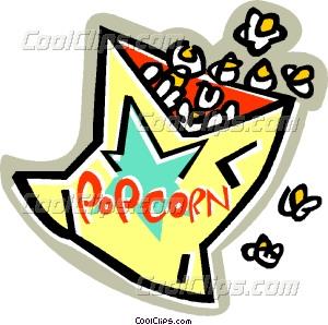 300x298 Bag Of Popcorn Vector Clip Art
