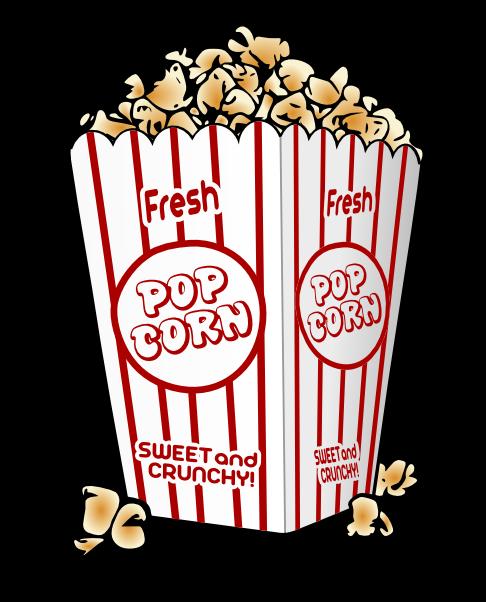 486x602 Free Popcorn Clipart