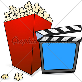 325x325 Pop Corn And Film Reel Gl Stock Images