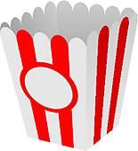 155x170 Popcorn Box Clip Art