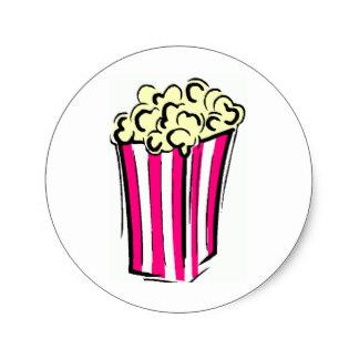 324x324 Popcorn Box Stickers Zazzle