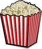 146x170 Popcorn Bucket Clip Art