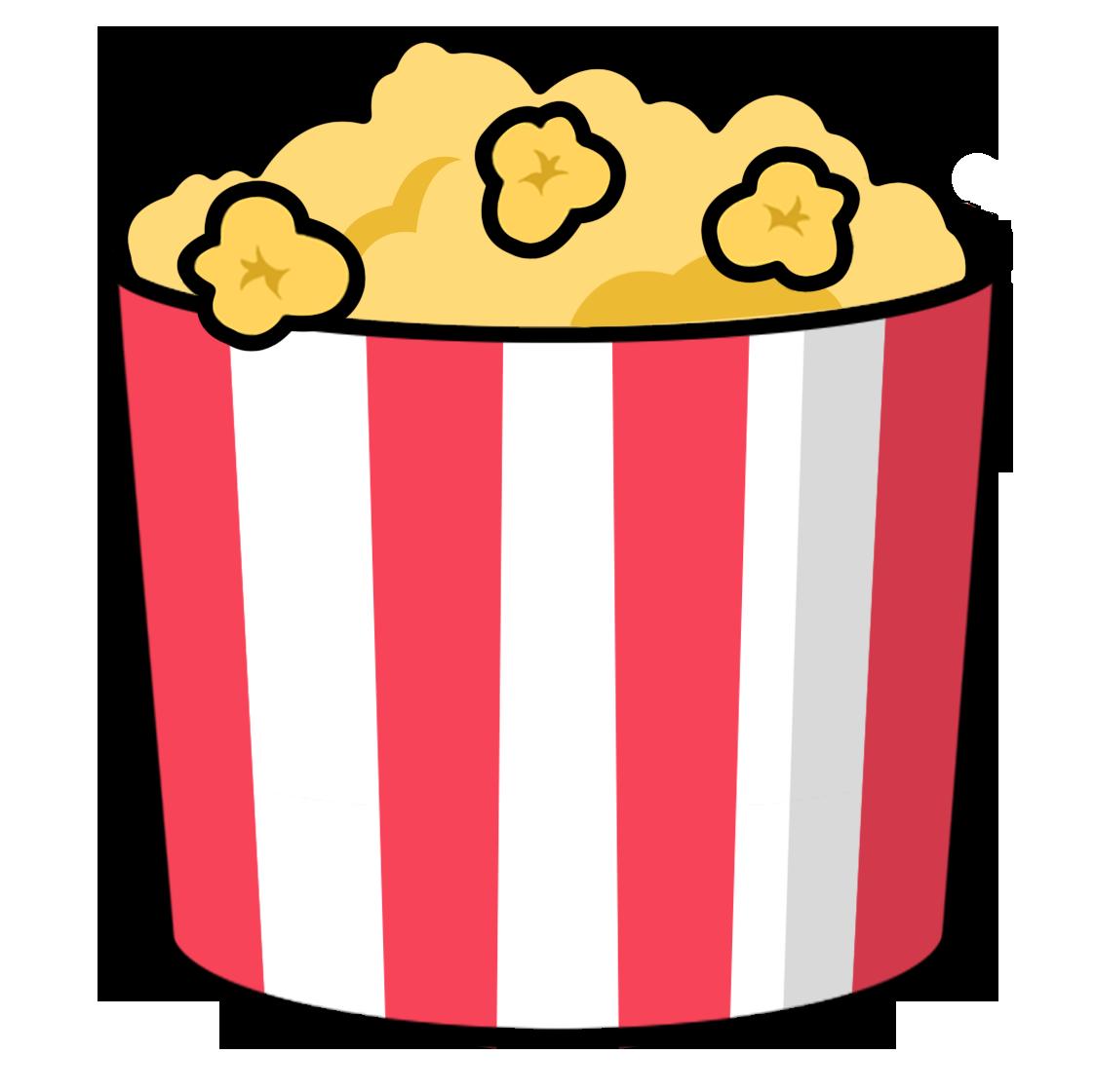 1123x1121 Popcorn Clipart Cartoon